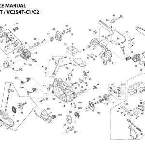 Ανταλλακτικά Αλυσποπριόνου (VC254T / VC254T-C1 / VC254T-C2)